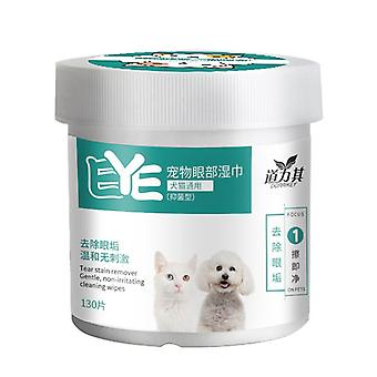 130pcs Pet Wipes,non-woven,tears Removal Clean Eye Scum For Dogs And Cats
