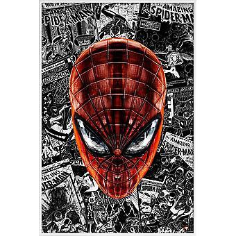 JUNIQE Print - Spider- Spider-Man Juliste harmaa & punainen