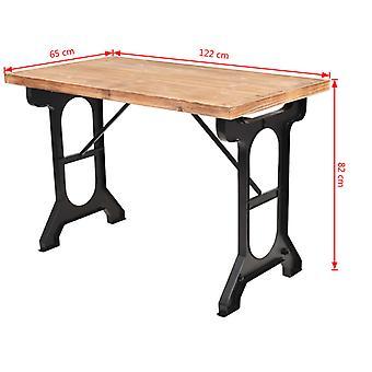 vidaXL Dining table fir wood solid 122 x 65 x 82 cm
