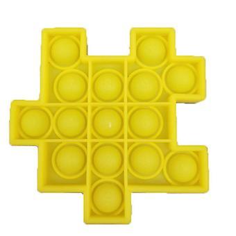1Pcs الأصفر 6pcs كرة السيليكون للأطفال لعب لعبة نمط مكعب روبيك حزمة تخفيف التوتر مع اللعب اليد تململ az21910
