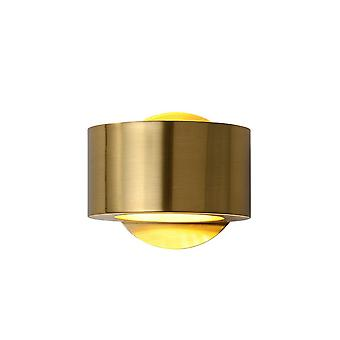 15cm Light Luxury Copper Wall Lamp Three-color LED Copper Lamp Gold