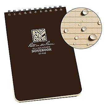 Rite in the Rain Universal Notebook, Top Spiral Bound, 4» x 6» (50 Sheets) Brown