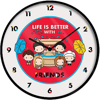 Friends Wall Clock Chibi