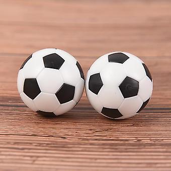 2pcs جديد أسود وأبيض صديقة للبيئة الراتنج Foosball الجدول كرة القدم