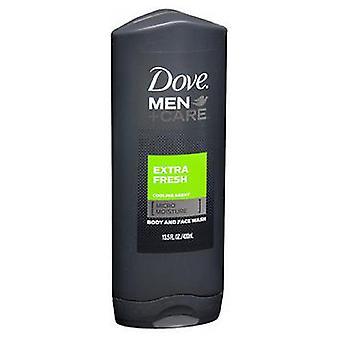 Dove Dove Men + Care Men+Care Body and Face Wash Extra Fresh, 13.5 oz