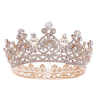 Barok kristal gesimuleerde parel vintage bruids haar accessoires bruiloft hoofdtooi oorbellen set vrouwen