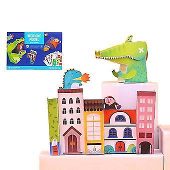 Children's Fun Handmade Children Diy Handmade Three-dimensional Origami Toys(Style2)