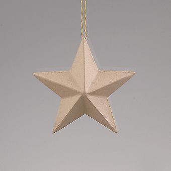 80mm Papier Mache Star Christmas Bauble Ornement pour décorer