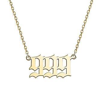 Angel Number Naszyjnik Srebrny /złoty Elementologia ze stali nierdzewnej Biżuteria