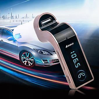 Car Player Fm Transmitter Bluetooth Hands-free Lcd Mp3 Player Adapter