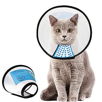 Supet Cat Cone Ajustable Pet Cone Pet Recovery Collar Comfy Pet Cone Collar Protective Collar For After Surgery Anti-bite Lick Wound Healing Safety P