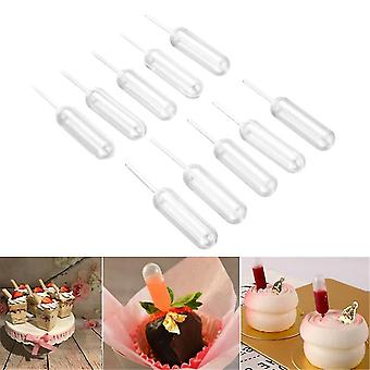 Transparent Extrusion Pipette Dropper - Flow Cake Ice Cream Disposable Pipette