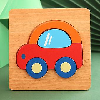 Thicken 3d wood puzzle baby toys cartoon animal educational intelligence jigsaw puzzle toys for children early learning