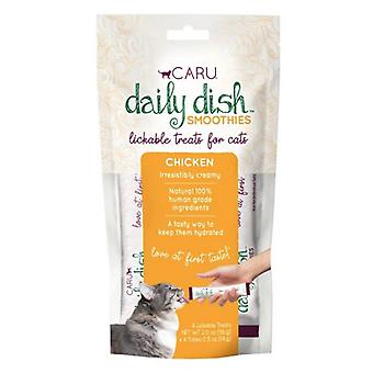 Caru Pet Food Daily Dish Smoothies Chicken Flavored Lickable Cat Treats - 4 count
