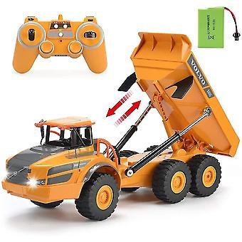 Kauko-ohjattavat autot kuorma rc kuorma dump kuorma rc nivelletty ladattava rakennusauto aikuiset lasten  kuorma autot khaki