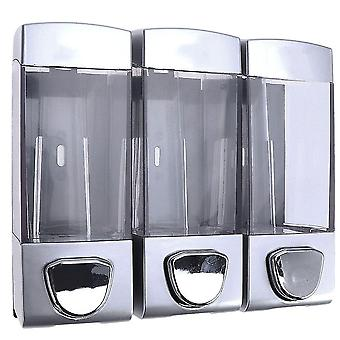 Soap lotion dispensers wall mounted soap gel dispenser hair conditioner pump three outlets simple shampoo soap dispensers
