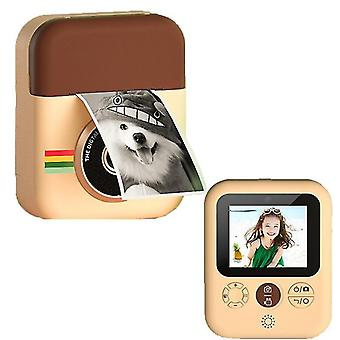 Children instant print camera for kids girls 1080p hd digital video camera with print photo paper