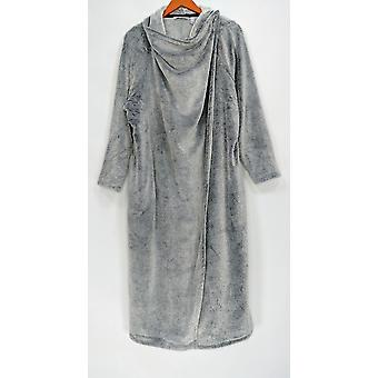 أي شخص المرأة سترة ملابس الصالة فروستيد الصوف تتالي رمادي A297310