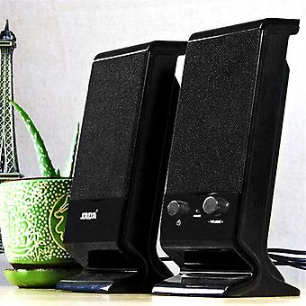 Sada V-112 Bärbar Stereo Bass USB-kombinationsdatorhögtalare för bärbar dator