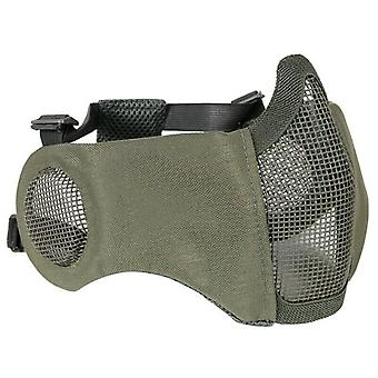 Airsoft Half Face Mask W/ Ear Protection Steel Wire Mesh Mask Hunting