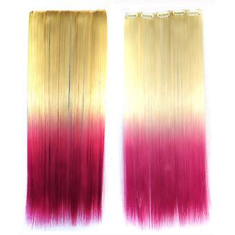 Dlouhé Striaght vlasy gradient rampa paruka prodloužení vlasů