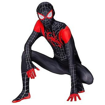 Spider Man Into The Superhero Costume Kids Miles Morales Cosplay Adult
