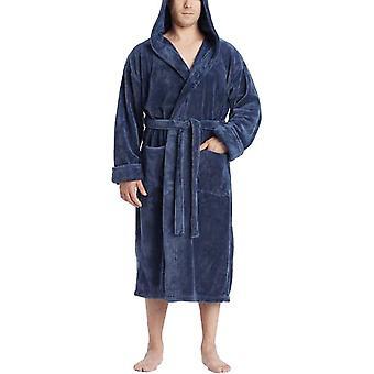 Мужской суперсофт с капюшоном роскошный длинный халат