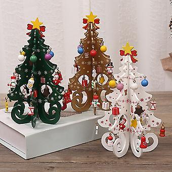 Weihnachtsbaum Kinder Handgemacht Diy Stereo Holz Weihnachtsbaum Szene Layout Weihnachtsdekoration Ornamente