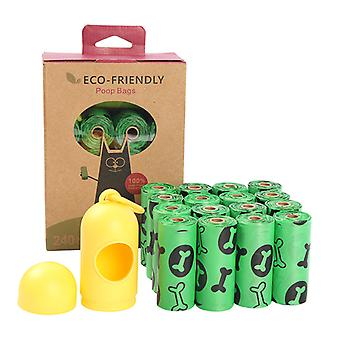 Eco-friendly Pet Waste Pick-up Bag With Dispenser 16rolls