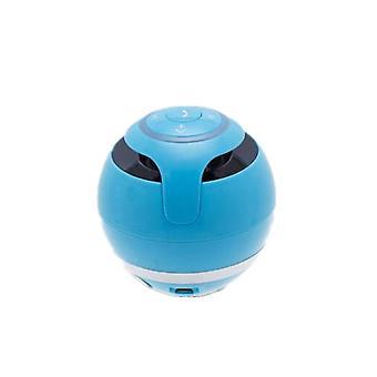 A18 Ball Bluetooth-høyttaler med LED-lys Bærbar Trådløs Mini Høyttaler Mobil Musikk Mp3 Subwoofer Støtte Tf (blå)