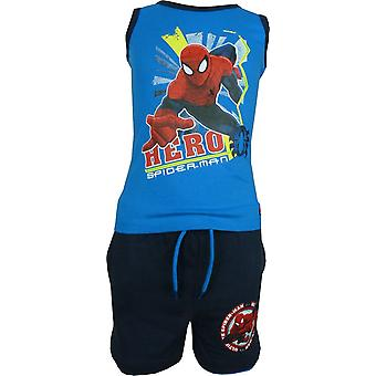 Los chicos Marvel Spiderman chaleco sin mangas y Shorts Set OE1099. I00