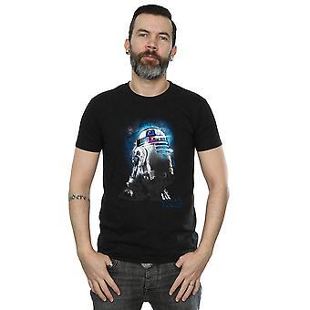 Star Wars mäns sista Jedi R2-D2 borstad T-Shirt