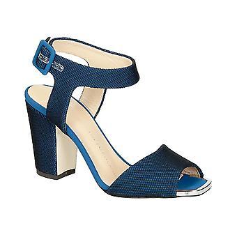 Giuseppe Zanotti sandały wysoki obcas w niebieskiej tkaniny Tech