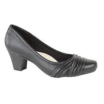 Comfort Plus Womens/Ladies Wide Fit Folded Vamp Court Shoes