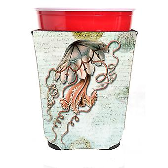 Carolines Treasures  SB3044RSC Jellyfish  Red Solo Cup Beverage Insulator Hugger