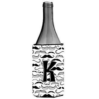 Letter K snor eerste wijn fles drank isolator Hugger