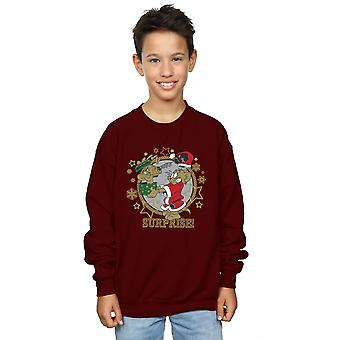Tom And Jerry Boys Christmas Surprise Sweatshirt