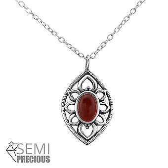Marquise - 925 Sterling Silver Jewelled Necklaces - W33002X
