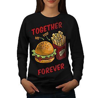 Together Forever Women BlackSweatshirt | Wellcoda