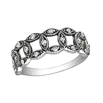 Circle - 925 Sterling Silver Cubic Zirconia Rings - W30140x