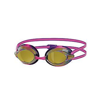 Zoggs Racespex Mirror Adult Swim Goggles - Mirrored Lens - Pink/Purple