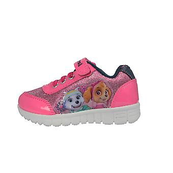 Girls Paw Patrol Glitter Pink Trainers Skye & Everest  UK Infant Sizes 5 - 10