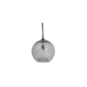 Light & Living Hanging Pendant Lamp D36x39.5cm Charyna Glass Stone Finish Black