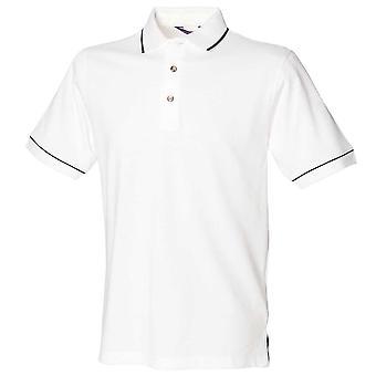 Henbury Mens gekippt Kragen & Manschette Kurzarm Baumwolle Polo-Shirt
