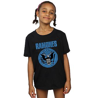 Ramones filles Blue Seal Logo T-Shirt