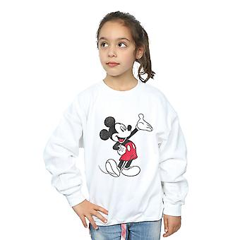 Disney Girls Mickey Mouse Traditional Wave Sweatshirt