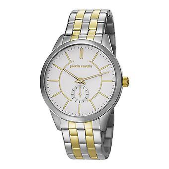 Pierre Cardin mens watch wristwatch TROCA SILVER GOLD PC106571F08