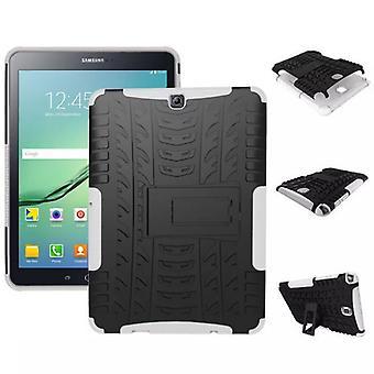 Hybrid Outdoor Schutzhülle Case Weiß für Samsung Galaxy Tab S2 9.7 T810 T815N Tasche