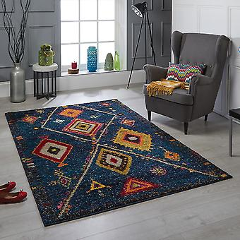 Atlas 80 B Blue  Rectangle Rugs Traditional Rugs