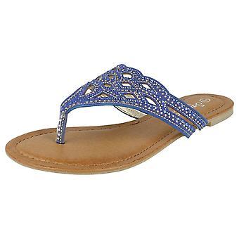 Mesdames Savannah empierré Toe Post sandales